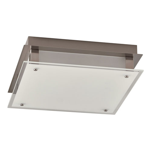 Essex Satin Nickel LED Semi Flush Mount with Frost Glass