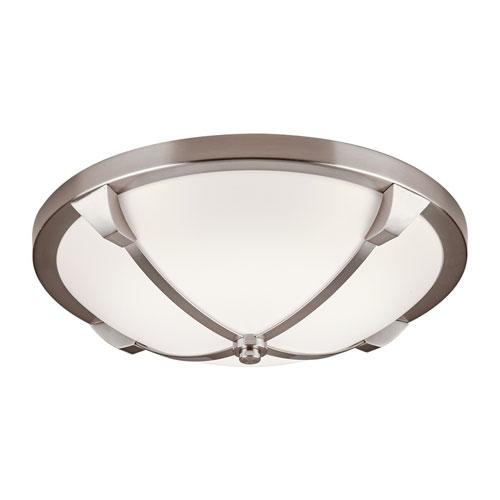 Adivina Satin Nickel 14-Inch LED Flush Mount with Opal Acrylic Glass