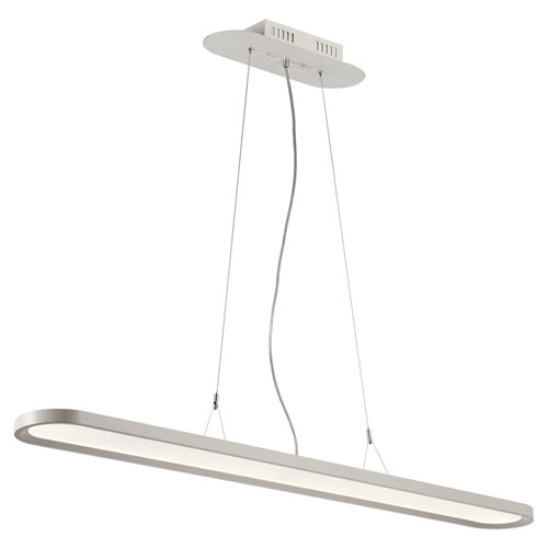 Crispin White LED Pendant with Opal Acrylic Lens