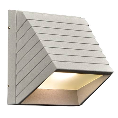PLC Lighting Le Doux Silver LED One-Light Outdoor Wall Mount Fixture