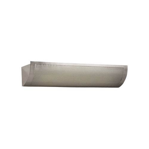 PLC Lighting Girasole One-Light Fluorescent Satin Nickel Vanity Light with Acid Frost Glass
