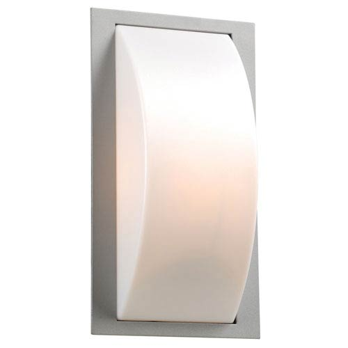 PLC Lighting Breda One-Light Silver Outdoor Wall Light