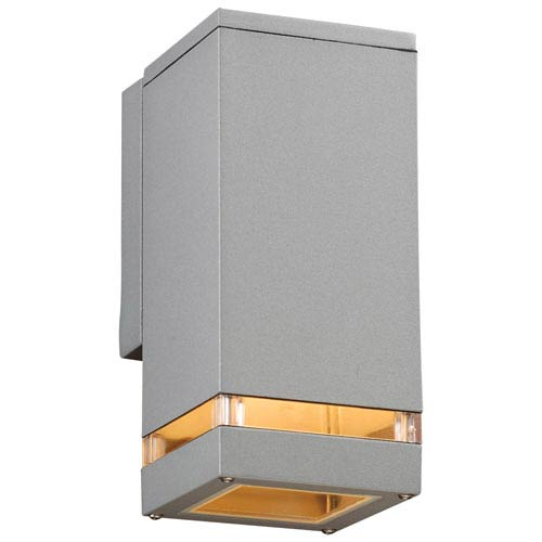 PLC Lighting Porto-I One-Light Silver Outdoor Wall Light