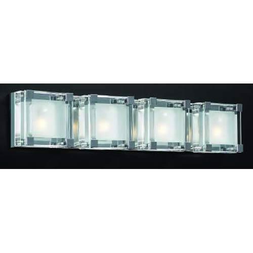 PLC Lighting Corteo Polished Chrome Four-Light Bath Fixture