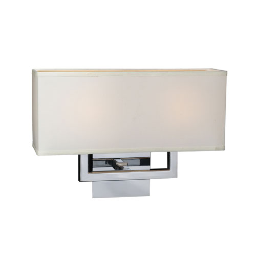 PLC Lighting Dream Two-Light Polished Chrome Sconce
