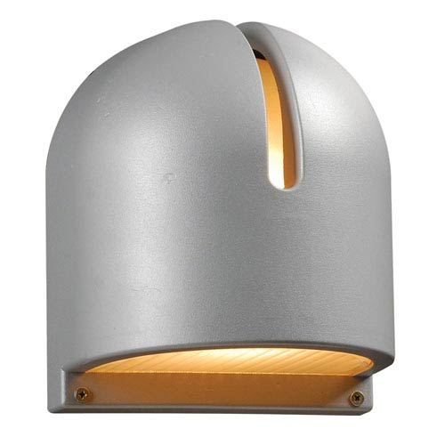 PLC Lighting Phoenix One-Light Silver Outdoor Wall Light