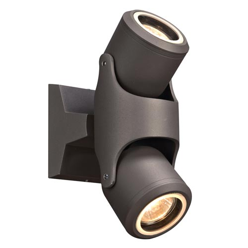 PLC Lighting Vela Bronze 4-Inch LED Outdoor Wall Sconce