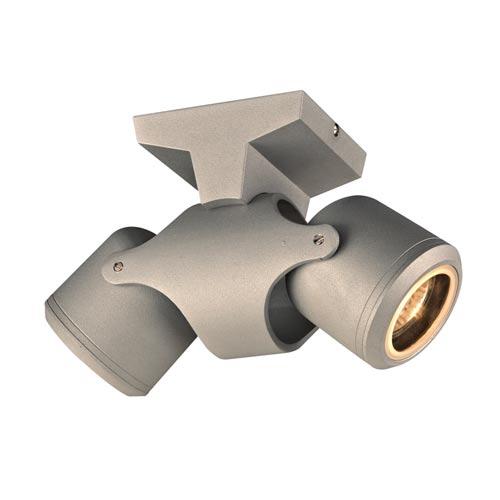 Vela Silver 4-Inch LED Outdoor Spot Light