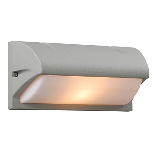 PLC Lighting Amberes Silver One-Light Outdoor Wall Mount Fixture