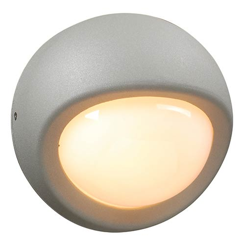 PLC Lighting Sol Silver One-Light Outdoor Wall Mount Fixture