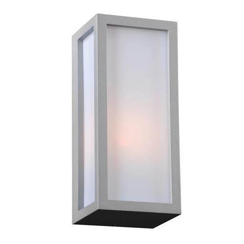 Dorato Silver 4-Inch LED Outdoor Wall Lantern