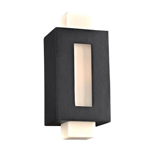 Pema Black 6-Inch LED Outdoor Wall Lantern
