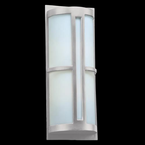 Rox Silver 9-Inch Two-Light Outdoor Wall Lantern