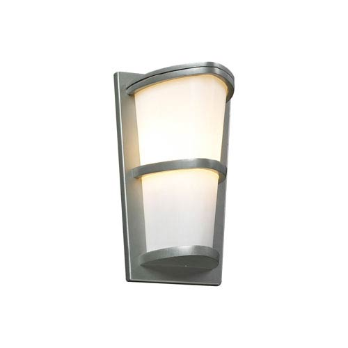PLC Lighting Alegria One-Light Silver Outdoor Wall Light