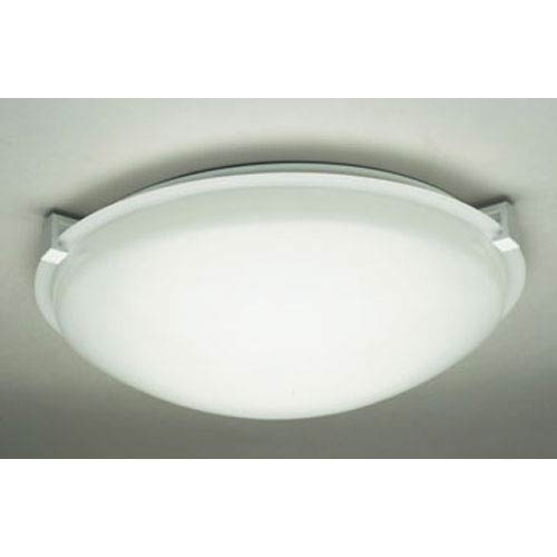 PLC Lighting Nuova One-Light White Close to Ceiling Light Fixture with Frost Glass