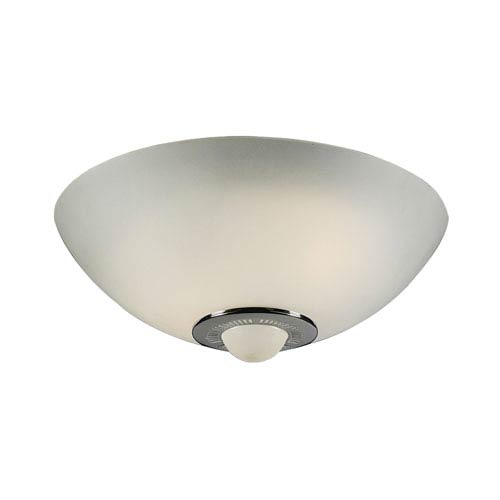 PLC Lighting Andante Two-Light Polished Chrome Close to Ceiling Light Fixture with Frost Glass