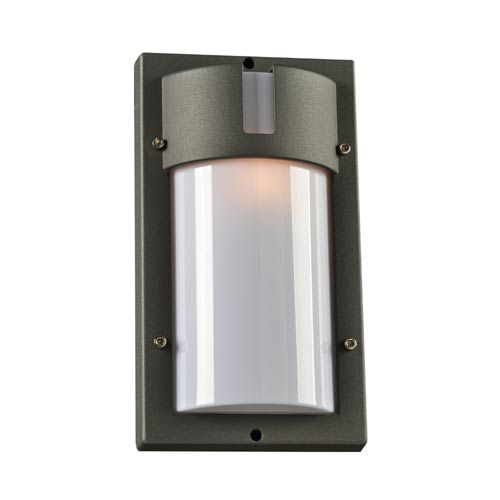 PLC Lighting JEDI Bronze 7-Inch One-Light Outdoor Wall Lantern