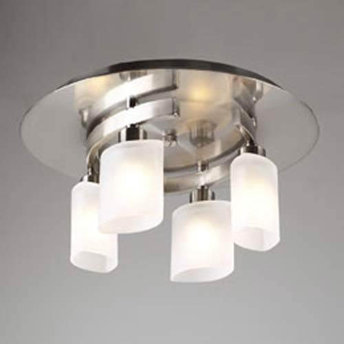Wyndham Satin Nickel Flush Mount Ceiling Light
