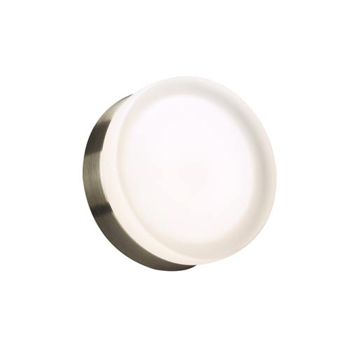 Metz Satin Nickel 6-Inch LED Wall Sconce and Flush Mount