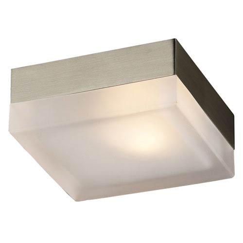 Praha One-Light Satin Nickel Wall with Frost Glass -Halogen