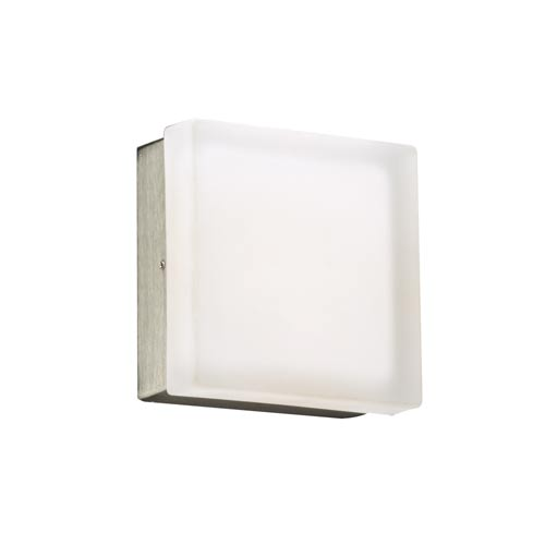 Praha Satin Nickel 3-Inch LED Wall Sconce and Flush Mount