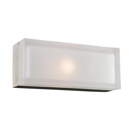 PLC Lighting Praha Satin Nickel 5-Inch LED Wall Sconce