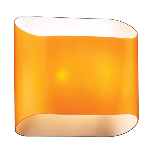 PLC Lighting Jackson Two-Light Amber Sconce with Amber Glass
