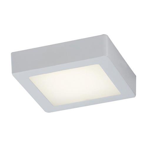 PLC Lighting Rubix White 7-Inch Energy Star LED Square Flush Mount