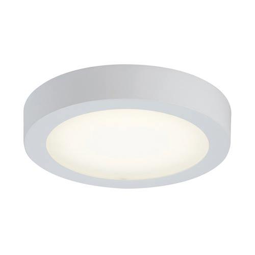 Float White 7-Inch Energy Star LED Round Flush Mount