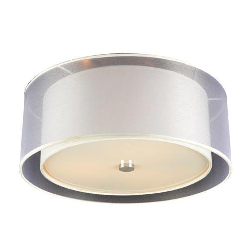 PLC Lighting Daytona Polished Chrome 18-Inch LED Flush Mount