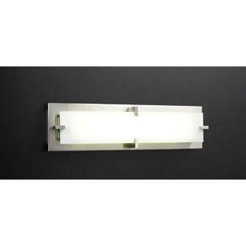 PLC Lighting Polipo Small Satin Nickel Bath Bar
