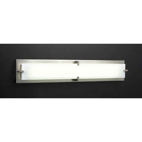 PLC Lighting Polipo Large Satin Nickel Bath Bar