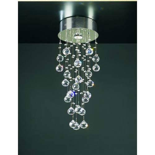 Beverly Polished Chrome Small Flush Mount Ceiling Light
