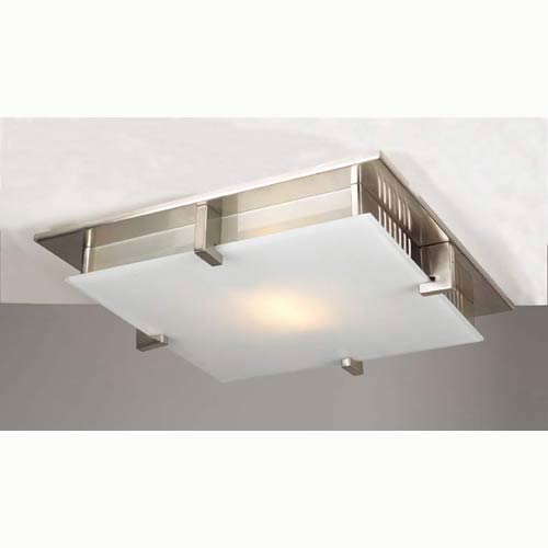 Polipo Large Satin Nickel Flush Mount