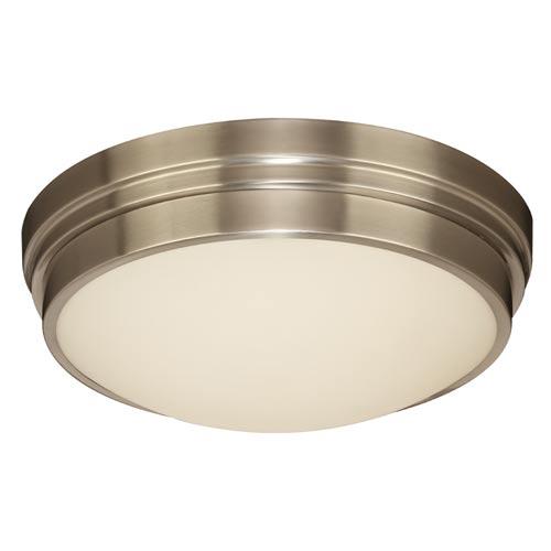 PLC Lighting Turner Satin Nickel 14-Inch LED Flush Mount