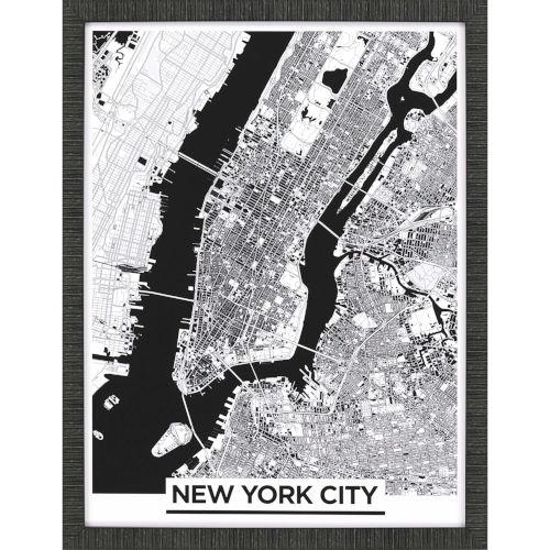 Monochrome New York Black Framed Art