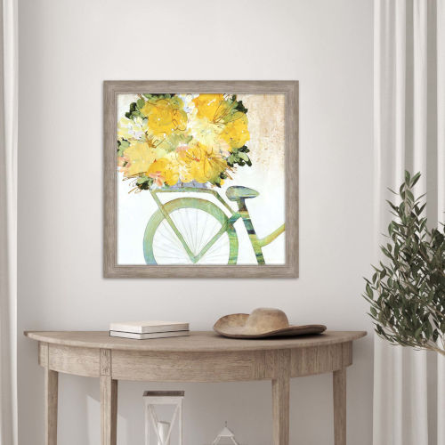 Yellow 28 H x 28 W-Inch Returning from the Farm Wall Art