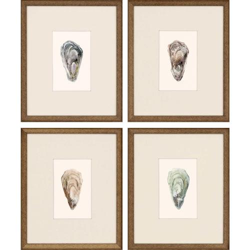 Ocean Blades Neutral Framed Art, Set of Four