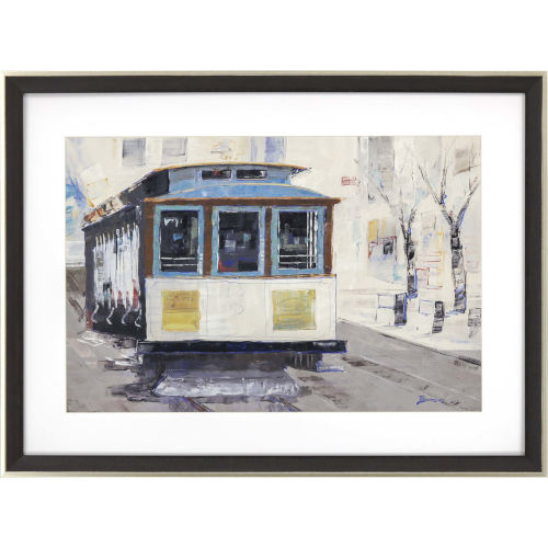 Cable Town Multicolor Framed Wall Art