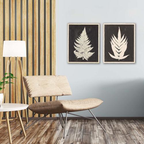 Linen Fern I Black Framed Wall Art, Set of 2