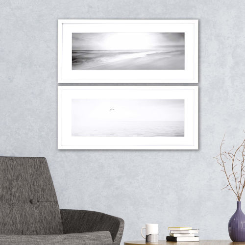 Black and White I White Framed Wall Art, Set of 2