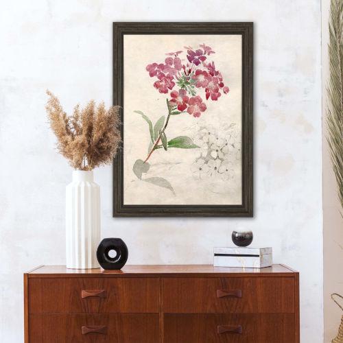Hydrangea Pink Framed Wall Art