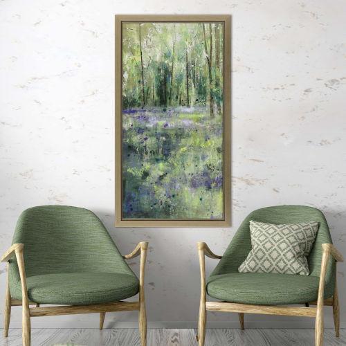 Green Lavender Hill I Framed Art