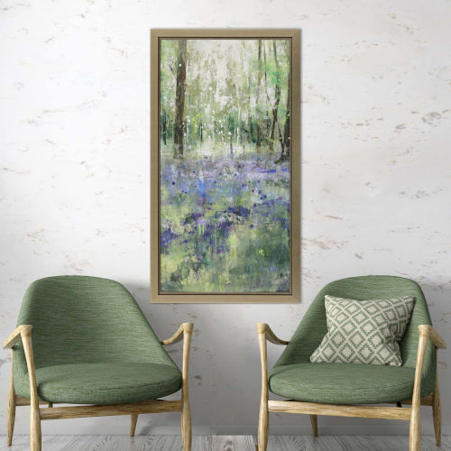 Green Lavender Hill II Framed Art