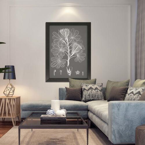 Black and White Leaves II Framed Art