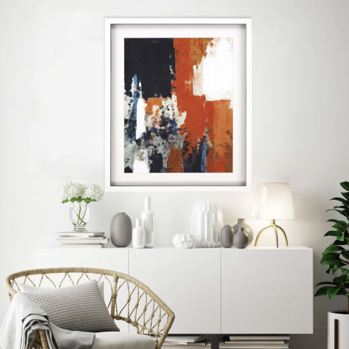 Libby Langdon Multicolor Crush I Framed Art