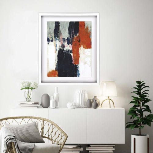 Libby Langdon Multicolor Crush II Framed Art
