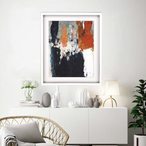 Libby Langdon Multicolor Crush III Framed Art