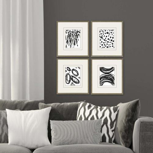 Black 19 H x 17 W-Inch Perception Wall Art, Set of 4