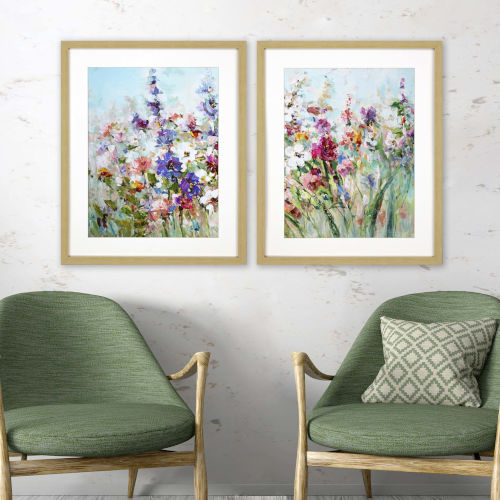 Multicolor 31 H x 25 W-Inch Spring Delight Wall Art, Set of 2